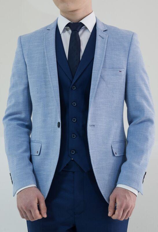 Пиджак, жакет, жилетка мужские AKCENT Пиджак мужской светло-голубой - фото 2