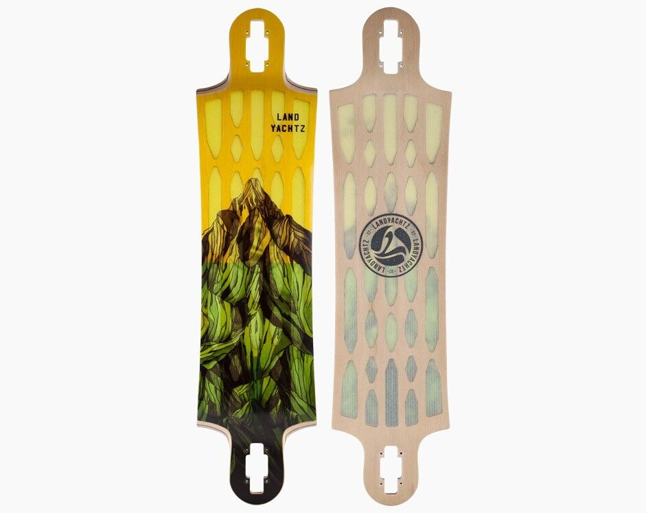 Скейтборд Landyachtz Лонгборд Hollowtech Switchblade 40 Mountains Yellow - фото 5