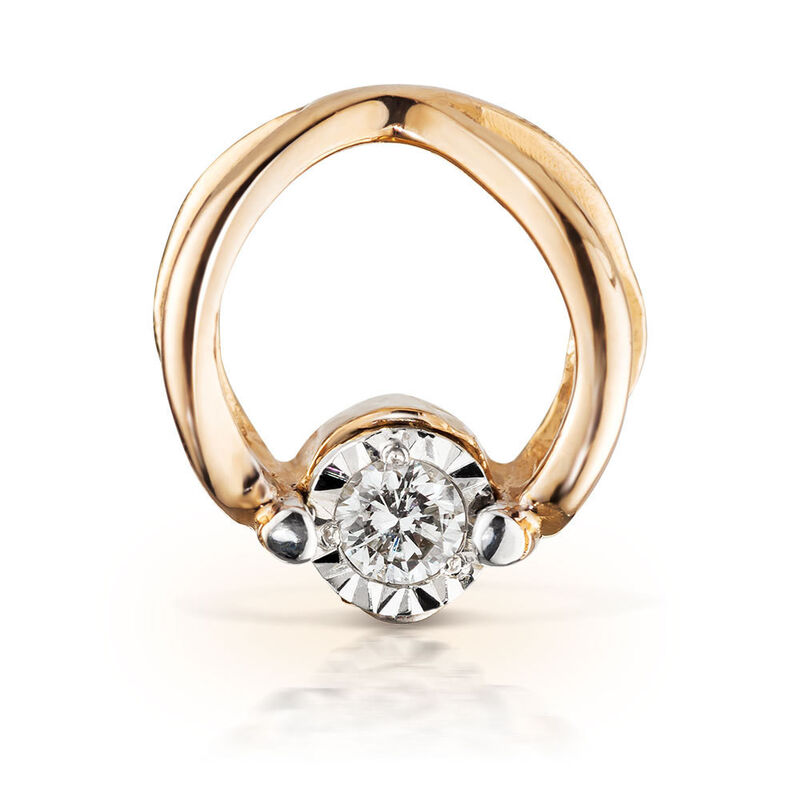 Ювелирный салон Jeweller Karat Подвеска золотая с бриллиантами арт. 3233096/9 - фото 1