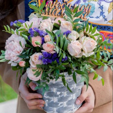 """Магазин цветов Долина цветов Букет  """"Комплимент для мамы"""" - фото 1"""