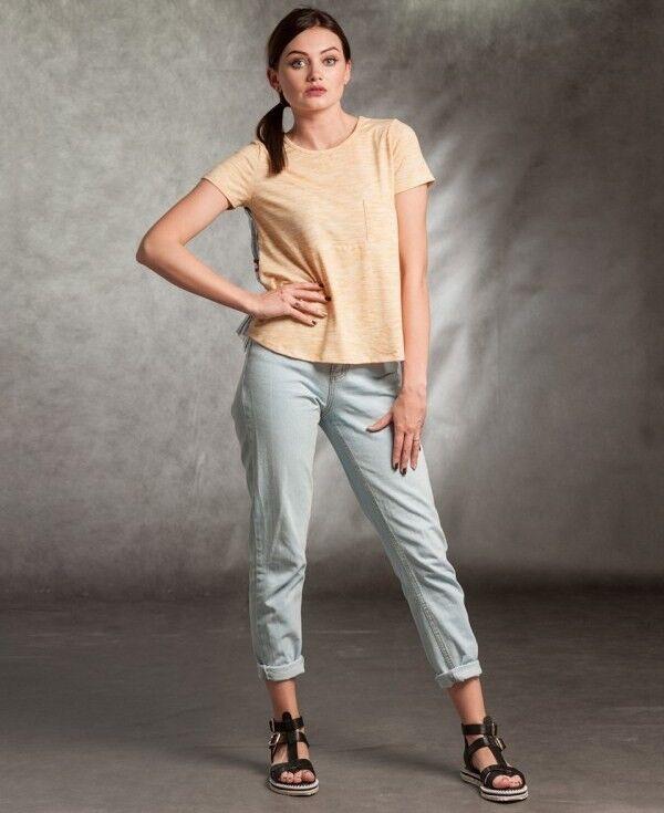 Кофта, блузка, футболка женская MISUTERI Футболка Sacai Yellow SS0168 - фото 1