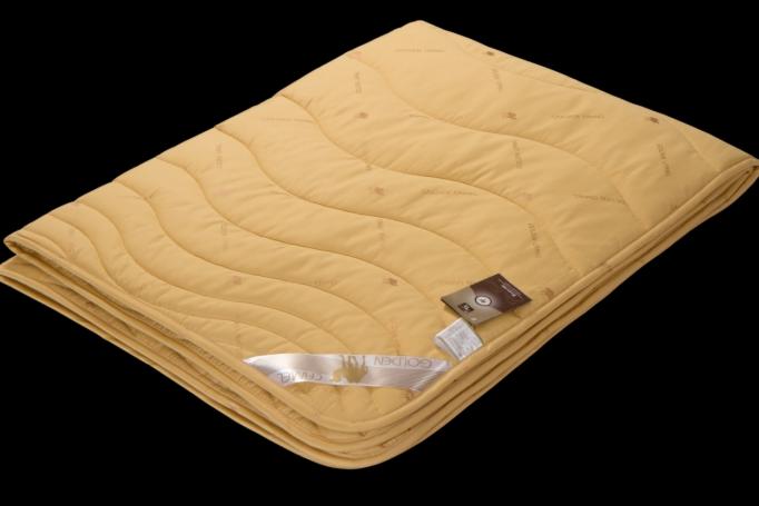 Подарок Голдтекс Верблюжье одеяло «Золотой верблюд» в сатине Люкс 1055 - фото 1