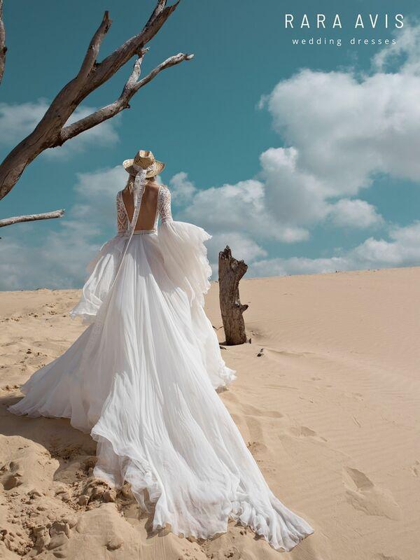 Свадебное платье напрокат Rara Avis Платье свадебное Wild Soul Rebeka - фото 4