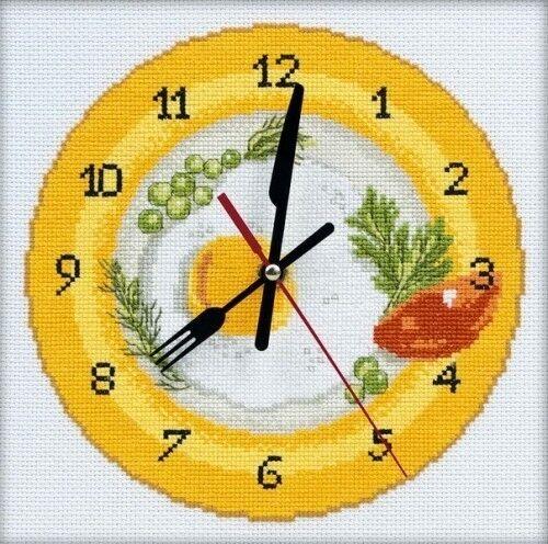 Товар для рукоделия РТО Набор для вышивания М40009 «Время завтракать» с часовым механизмом - фото 1