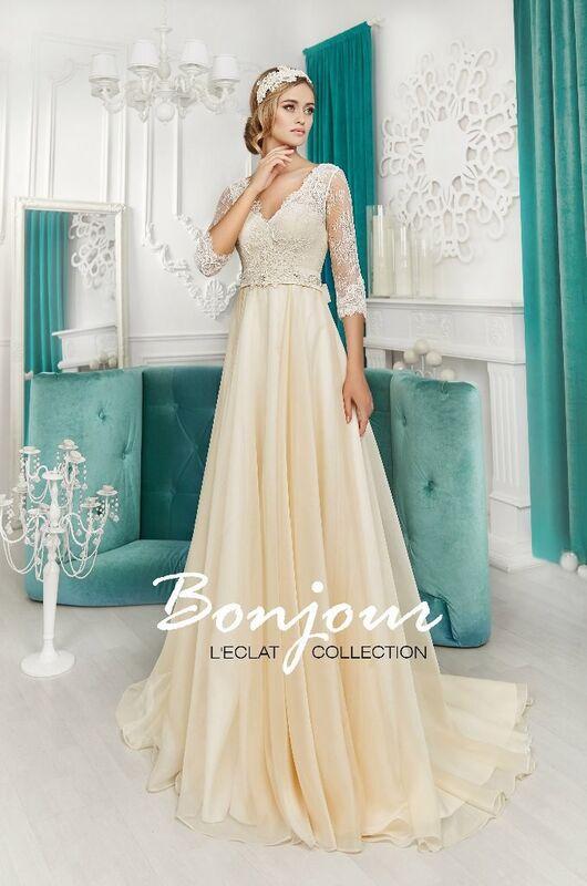 Свадебное платье напрокат Bonjour Платье свадебное «Anna» из коллекции L'ECLAT 2016 - фото 1