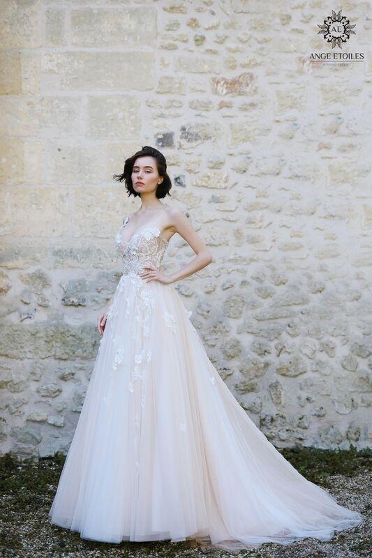 Свадебное платье напрокат Ange Etoiles Платье свадебное AEriality Collection  Lilian - фото 1