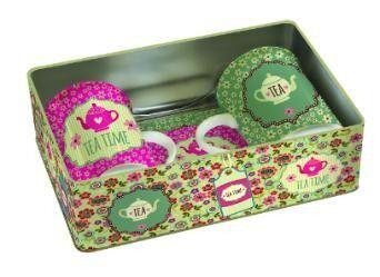 Подарок на Новый год Nuova R2S Набор кружек Tea Time 250 мл с подставками, 2 шт - фото 1