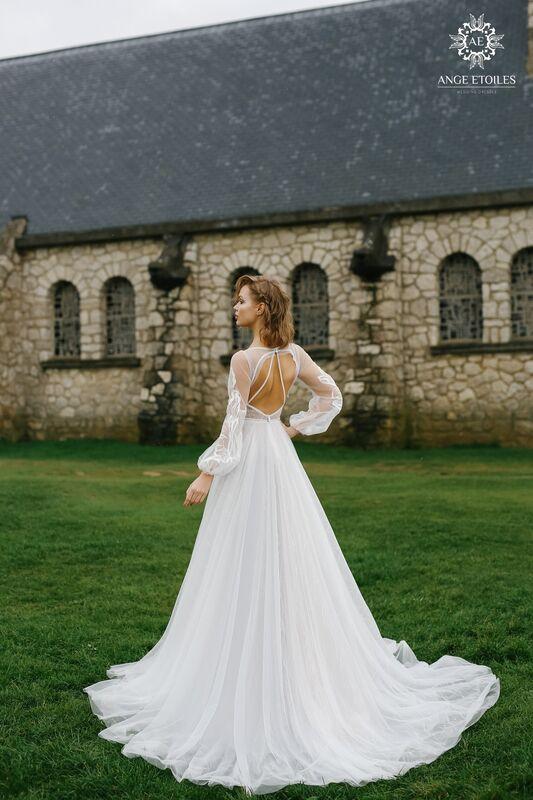 Свадебное платье напрокат Ange Etoiles Платье свадебное AEriality Collection  Luna - фото 3