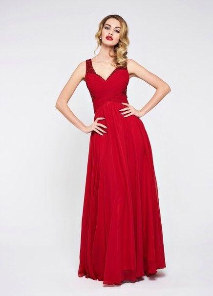 Вечернее платье Jan Steen Вечернее платье 0896 (красный) - фото 1