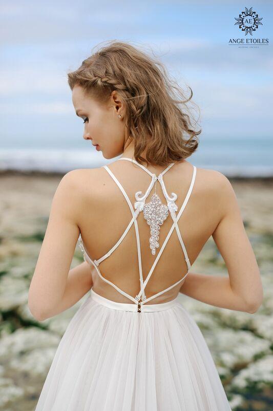 Свадебный салон Ange Etoiles Свадебное платье AEriality Collection Tea - фото 4