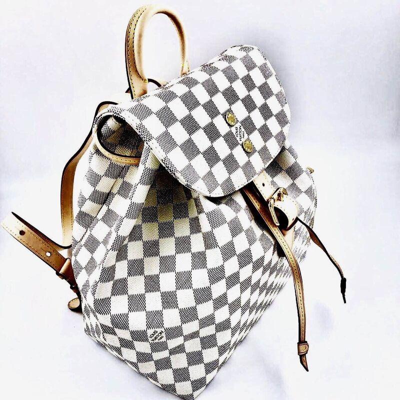 Магазин сумок Louis Vuitton Рюкзак белый - фото 2