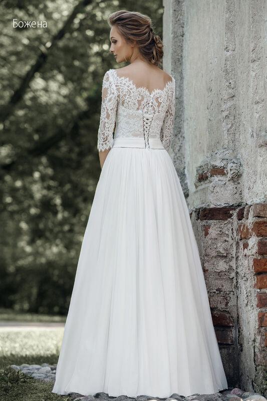 Свадебное платье напрокат Vintage Платье свадебное «Божена» - фото 2