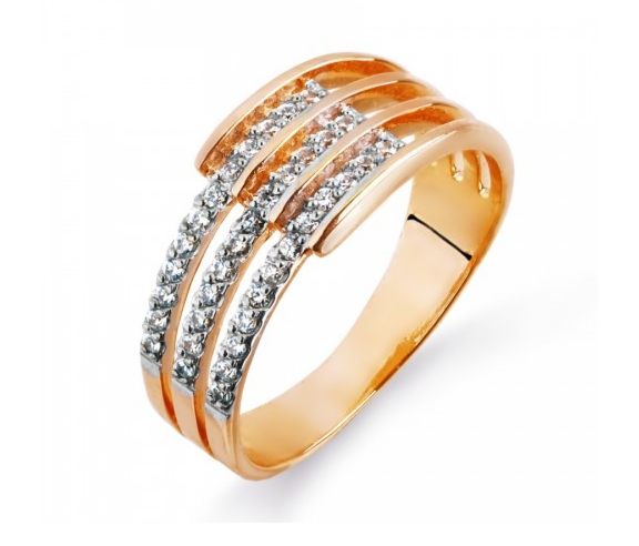 Ювелирный салон Топаз Кольцо из красного золота Т142014722 - фото 1