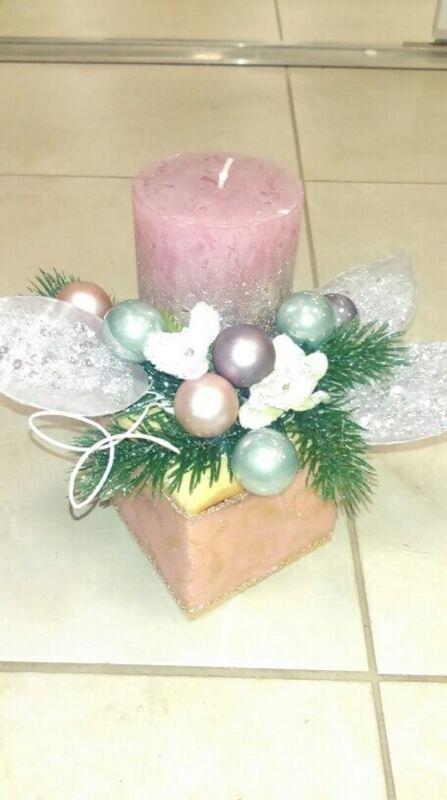 Магазин цветов Florita (Флорита) Новогодняя композиция на натуральной основе арт. 201217 - фото 1
