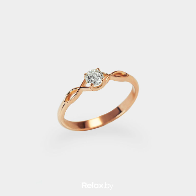 Ювелирный салон Белорусские Бриллианты Кольцо из золота со вставкой бриллиант синт. 21010005 - фото 1