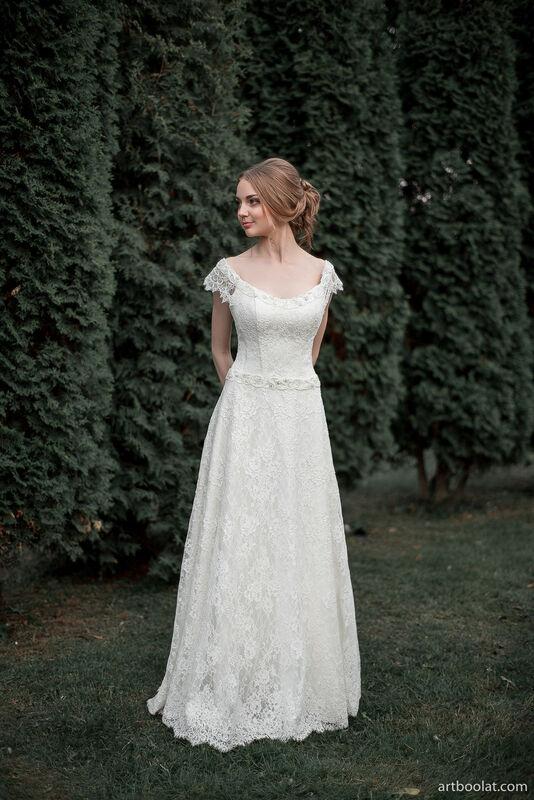 Свадебное платье напрокат Артемида Кружевное платье Ann - фото 1