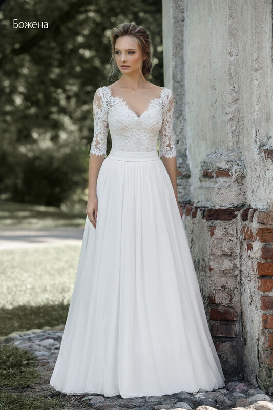 Свадебное платье напрокат Vintage Платье свадебное «Божена» - фото 1
