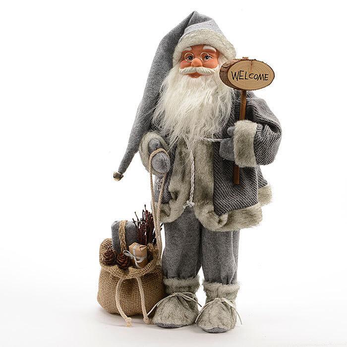 Подарок на Новый год mb déco Статуэтка новогодняя «Санта WELCOME» 561267/KG - фото 1