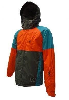 Спортивная одежда Free Flight Мужская мембранная горнолыжная куртка оранжево-серая - фото 1