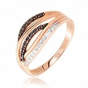 Ювелирный салон Jeweller Karat Кольцо золотое с бриллиантами арт. 1213236/1ч - фото 1
