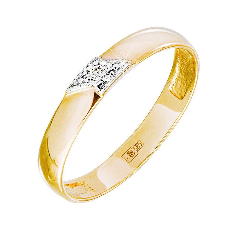 Ювелирный салон Jeweller Karat Кольцо обручальное с бриллиантом арт. 1212494 - фото 1