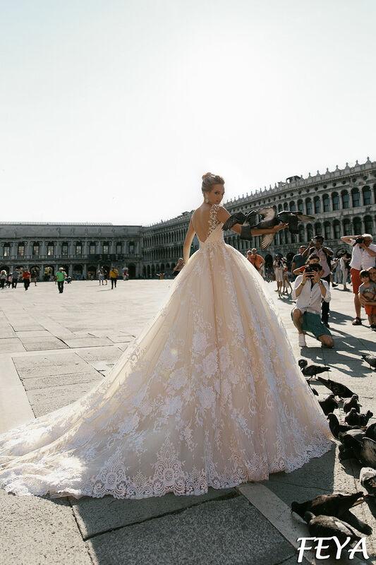 Свадебный салон Bonjour Galerie Свадебное платье Feya из коллекции La Douceur - фото 2