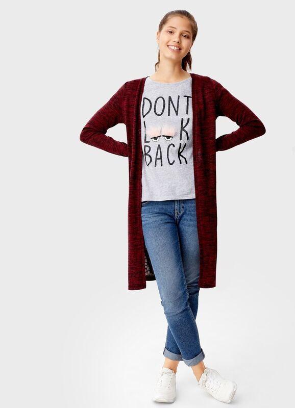 Кофта, блузка, футболка женская O'stin Кардиган без застёжки LT7T31-18 - фото 1