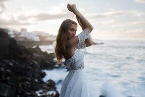 Свадебное платье напрокат Blammo-Biamo Свадебное платье Dream Ocean Kara - фото 4