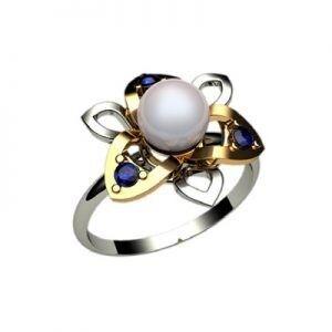 Ювелирный салон jstudio Золотое кольцо с различными вставками 10237 - фото 1