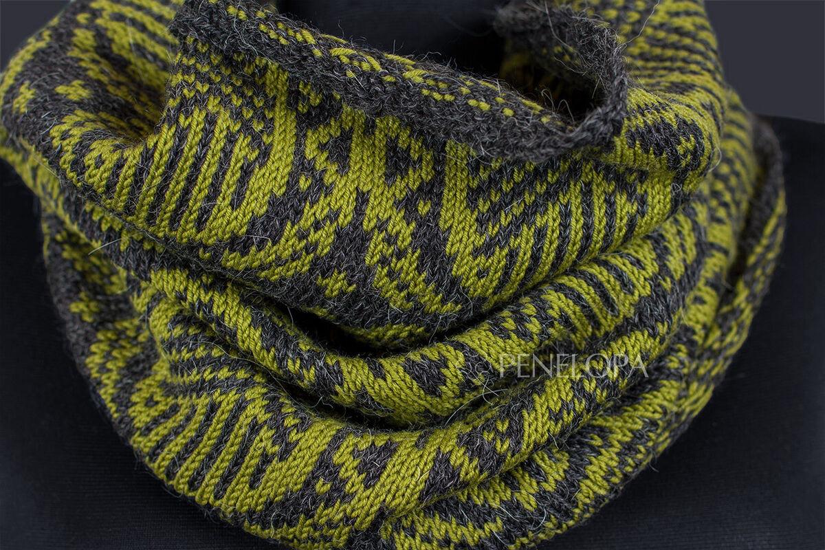 Шарф и платок PENELOPA Снуд «Орнамент» M87 - фото 2