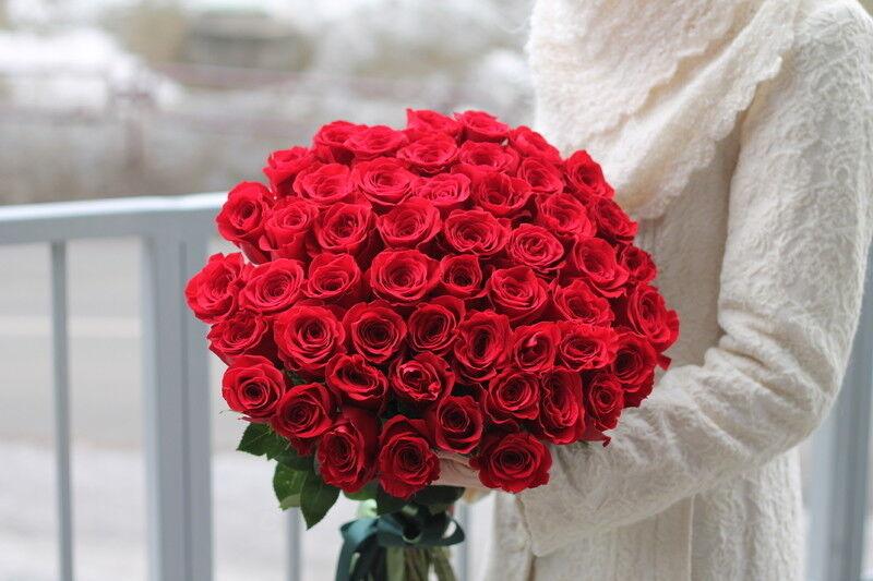 Магазин цветов Cvetok.by Букет из 51 красной розы - фото 1