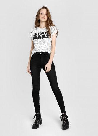 Брюки женские O'STIN Базовые суперузкие джинсы с высокой посадкой LPD107-95 - фото 1