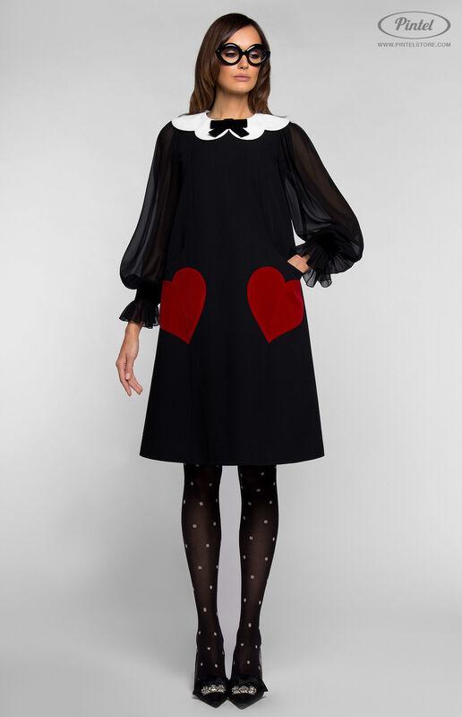 Платье женское Pintel™ Платье А-силуэта из натуральной шерсти TIFFANY - фото 4