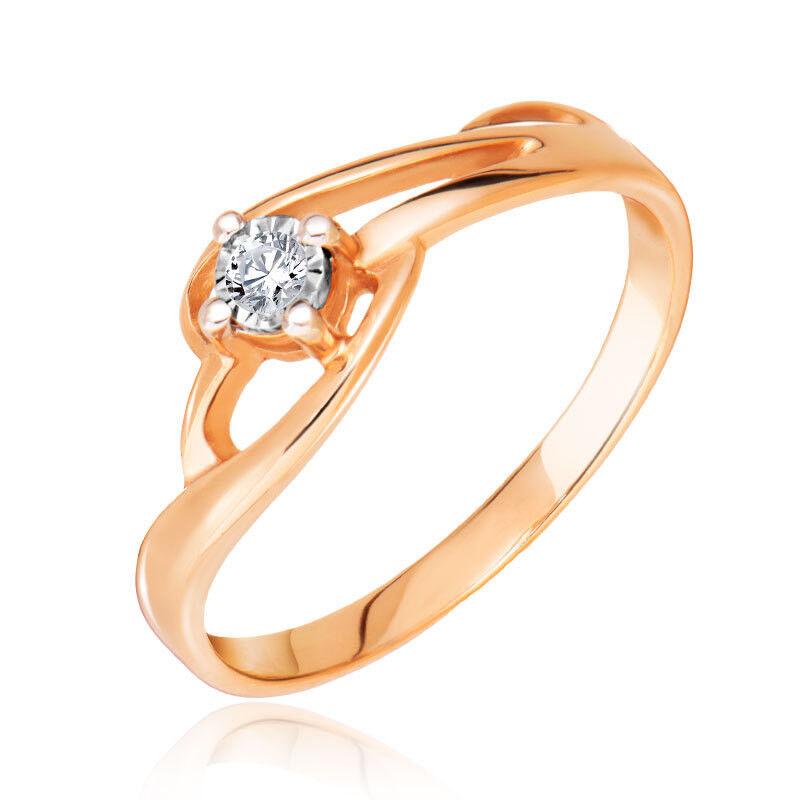 Ювелирный салон Jeweller Karat Кольцо золотое с бриллиантами арт. 3212450/9 - фото 1
