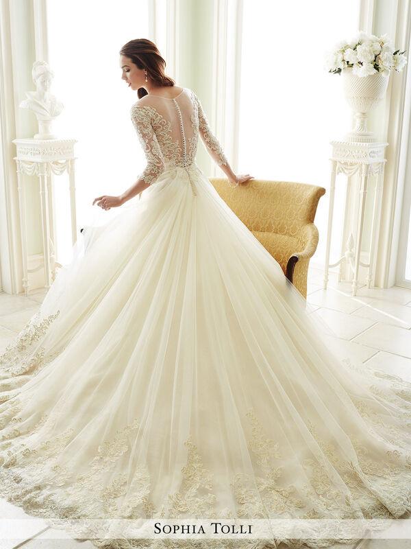 Свадебное платье напрокат Sophia Tolli Платье свадебное Y21666 Andria - фото 2