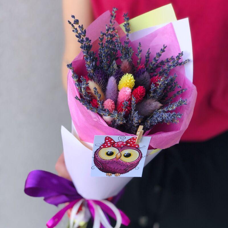 Магазин цветов Кошык кветак букет из сухоцветов №1 - фото 1