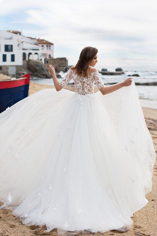Свадебное платье напрокат Bonjour Платье свадебное «Nanzi» из коллекции LA SENSUALITE 2017 - фото 2