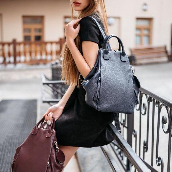 Магазин сумок Vezze Кожаный женский рюкзак C00527 - фото 4