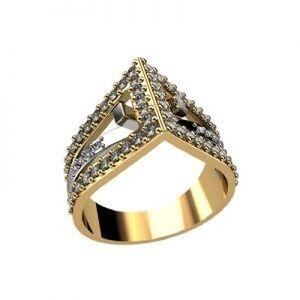 Ювелирный салон jstudio Золотое кольцо с различными вставками 10258 - фото 1