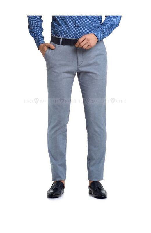 Брюки мужские Keyman Брюки мужские голубые, фактурный хлопок - фото 1