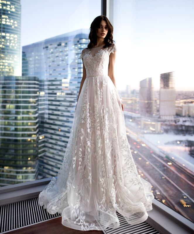 Свадебное платье напрокат Natalia Romanova Свадебное платье  Eliya - фото 2