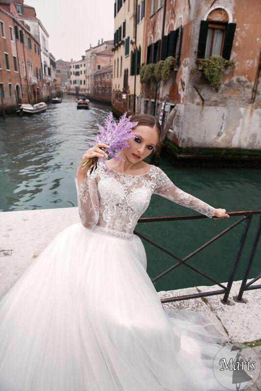 Свадебное платье напрокат Bonjour Платье свадебное «Maris» из коллекции LE DELICE 2018 - фото 2