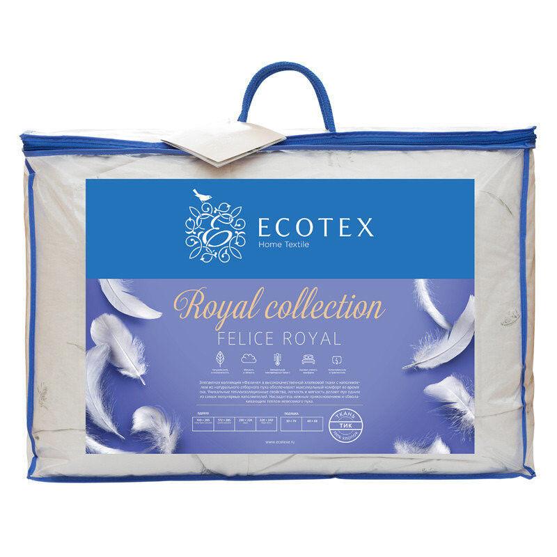 """Подарок Ecotex Одеяло пуховое """"феличе""""  1,5 сп. арт. фоп-1 - фото 3"""