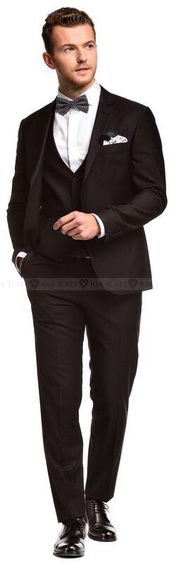 Костюм мужской Keyman Костюм мужской черный тройка - фото 2