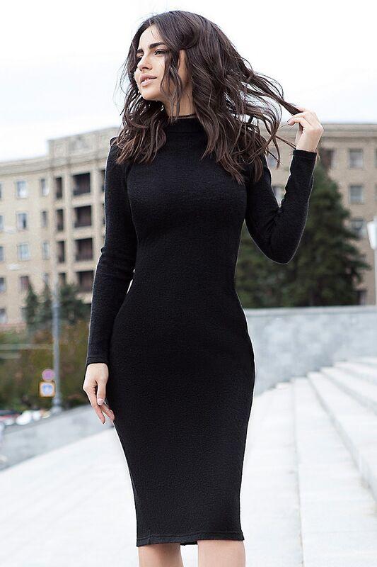 Платье женское SL.IRA Черное платье из ангоры - фото 1