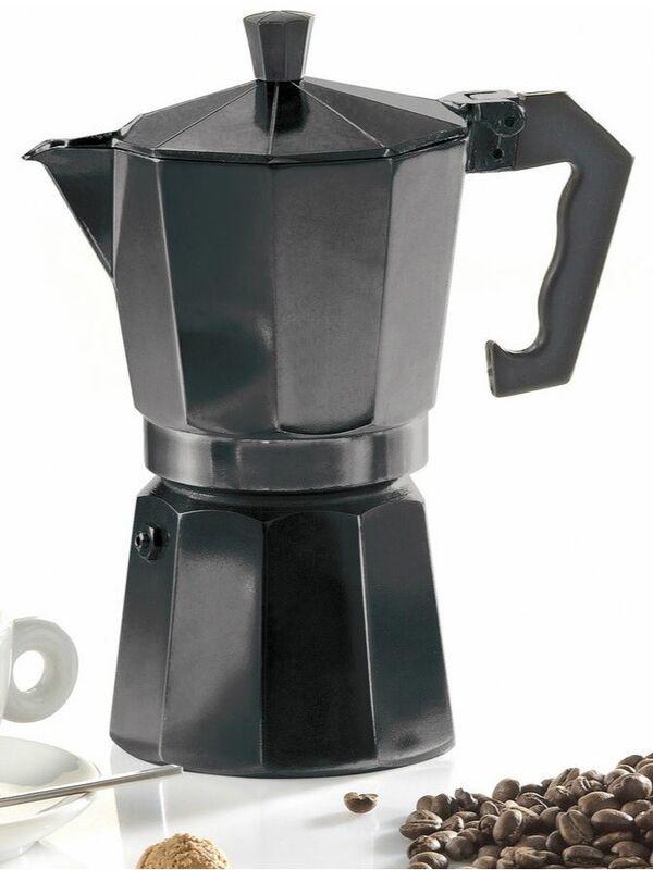 Подарок Krüger Гейзерная кофеварка черная (на 6 порций) 502S - фото 1
