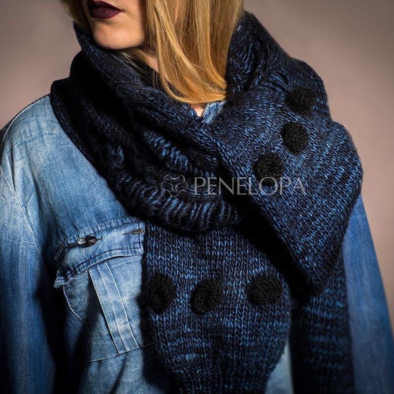 Шарф и платок PENELOPA Синий шарф-рукав M11 - фото 1