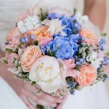 Магазин цветов Ветка сакуры Свадебный букет № 110 - фото 1