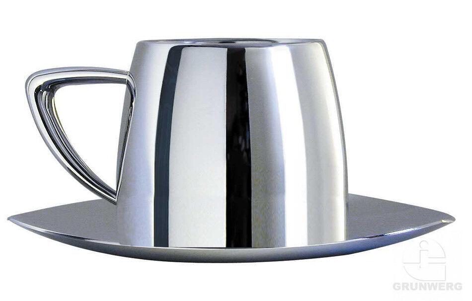 Подарок Grunwerg Чашка для кофе капучино с блюдцем «Art Deco» 200 мл., DC-525 - фото 1