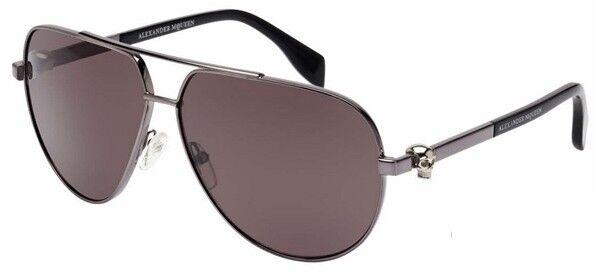 Очки Alexander McQueen Солнцезащитные очки  AM0018S-004 - фото 1